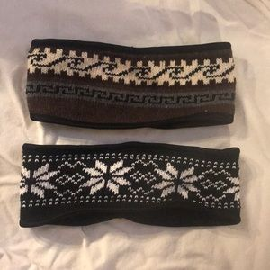 Set of 2 super cute fleece lined headbands